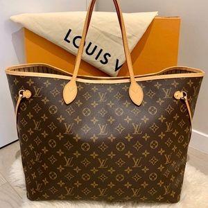 Louis Vuitton Neverfull GM Monogram Beige Bag